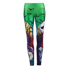 Halloween Party Women's Leggings Witches and Devils 3d Printed Leging Female High Elastic Waist Band Slim Mujer Fitness Leggings
