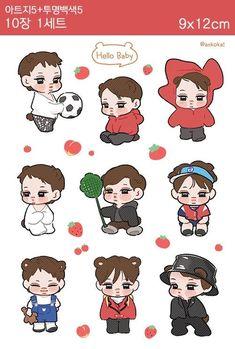 Exo Stickers, Printable Stickers, Kaisoo, Kyungsoo, 5 Years With Exo, Exo Fan Art, Exo Memes, Good Notes, Kpop Fanart