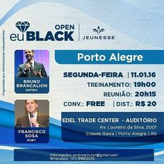 Grande Evento em Porto Alegre Brazil. Não perder esta oportunidade para ficarem a conhecer a jeunesse ou mesmo esclarecerem duvidas que possam ter. http://ift.tt/1PbB1A9