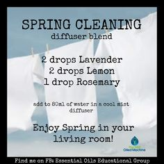 Spring Cleaning diffuser blend ~ doTERRA Find me on FB:  https://www.facebook.com/groups/EssentialOilsEducationalGroup/