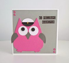 annan aarteet: ei pöllömpi suoritus eli pöllö-aiheiset yo-kortit Make Happy, Envelope, Diy And Crafts, Funny Quotes, Scrap, Owl, Gift Wrapping, Party, Cute