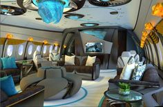 Interior design for 787 bizjet