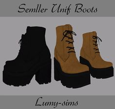 Sims 4 CC's - The Best: Boots by Lumy Sims