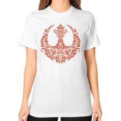 Rebel Flourish Unisex T-Shirt (on woman)