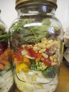 Salad in a Kilner jar