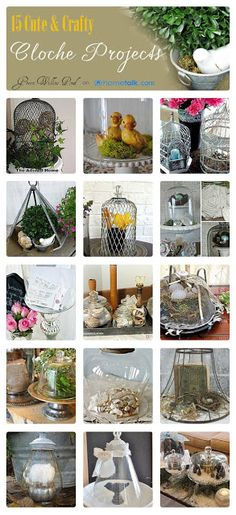 15 Cute & Crafty Cloche Projects | curated by 'Green Willow Pond' blog!