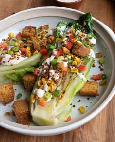 The crispy, charred, grilled romaine paired with the sweet and crunchy pepper and corn, doused in the tangy BBQ sauce, has won over many dinner guests.