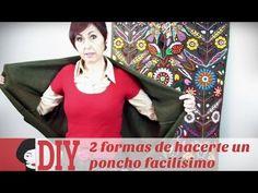 M DIY: Dos formas de hacerte una capa / chaqueta / poncho. Facilísimo! - YouTube