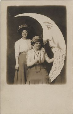 Paper Moon #2 - Two Women with a Flower Real Photo Postcard by Photo_History, via Flickr