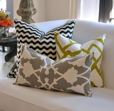 Love the pattern and color combo - pillow inspiration