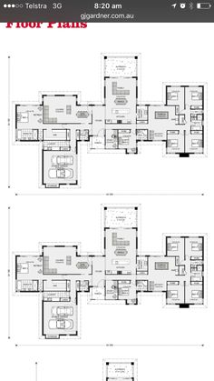 Great acreage style house 6 Bedroom House Plans, Family House Plans, Best House Plans, Dream House Plans, House Floor Plans, Home Design Floor Plans, Floor Design, Large Floor Plans, Pool House Designs