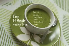Thirty-Minute Health Soup by Angela Roberts Get Healthy, Healthy Eating, Healthy Soups, Healthy Recipes, Healthy Food, Clean Eating, Vitamix Soup Recipes, Recipes For Soups And Stews, Blender Soup