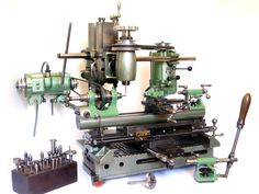 "Lathes called ""Universal Werkstätten Gerät"" (UWG) made by the company ""Hommel Germany""."