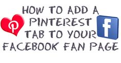 Tutorial by Kim Garst - how to add a pinterest tab to your facebook fan page