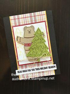 Fa-la-la-la friends, Stampin' up! Peaceful Pines, Christmas card. the crafty yogi