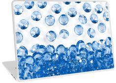 It's Raining Bling Blue Diamond Jewels | Design available for PC Laptop, MacBook Air, MacBook Pro, & MacBook Retina