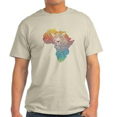 Abstract symbol Africa in leopard ca T-Shirt on CafePress.com