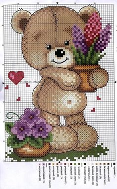 No DMC color code for this chart Cross Stitch For Kids, Cross Stitch Boards, Cross Stitch Pictures, Cross Stitch Needles, Cross Stitch Heart, Cute Cross Stitch, Cross Stitch Animals, Cross Stitch Flowers, Counted Cross Stitch Patterns