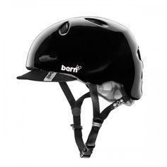 Finally a bike helmet I like.  http://bernunlimited.com/shop/bike/women/berkeley-123.html
