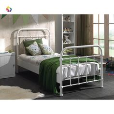 Purchase a City Metal Single Children's Bed at Room To Grow. We offer price match availability on the City Metal Single Bed & free delivery available on orders over Childrens Single Beds, Kids Single Beds, Cot Paint, Bed City, Lit Simple, Stylish Beds, Extra Bed, Room To Grow, Metal Beds