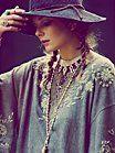 Crochet Canvas Brimmed Hat