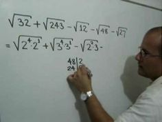 Suma y resta de radicales semejantes: Julio Rios explica cómo simplificar una suma de radicales usando el concepto de radicales semejantes.