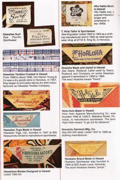 Hawaiian Shirt Labels