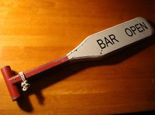 LARGE 2 FT BAR OPEN NAUTICAL WOOD BOAT OAR SIGN Sailing Sailboat Decor NEW pub room