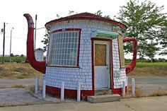 Teapot Dome Gas Station in Zillah, Washington. This little gas station was built in 1922