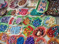 Beads galore, all handmade by Elsje Carter, available only in our shop