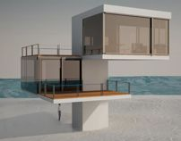 house on the beach by Malgorzata Idziak, via Behance