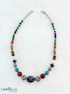 Nepalese Mixed Stone and Bead Necklace, $58.00