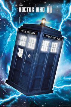 Doctor Who Tardis - Official Poster. Official Merchandise. Size: 61cm x 91.5cm. FREE SHIPPING