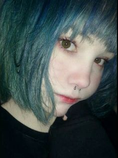 Pin by Aaron Daven on Des in 2019 Pretty People, Beautiful People, Grunge Hair, Kawaii Girl, Tumblr Girls, Aesthetic Girl, Ulzzang Girl, Hair Inspo, Blue Hair