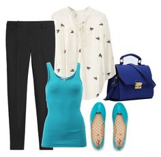 Blue Day by waldsrac on Polyvore featuring polyvore, fashion, style, James Perse, White House Black Market, Relaxfeel, women's clothing, women's fashion, women, female, woman, misses and juniors