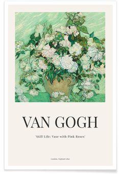 van Gogh - Still Life: Vase with Pink Roses Poster