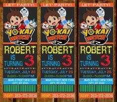 Yo Kai reloj fiesta invitación del cumpleaños por DesignPhotoArt