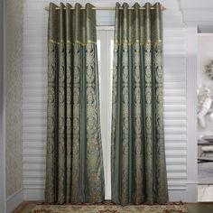 Rococo Grey Jacquard Energy Saving Curtain   #curtains #decor #homedecor #homeinterior #grey