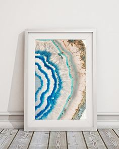 Mineral Photography Print 022 Light Blue and Pink by FlyWithMe Wall Art Designs, Design Art, Blue Geode, Agate Geode, Pink Home Decor, Alcohol Ink Art, Inspirational Wall Art, Hanging Pictures, Abstract Watercolor