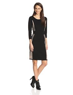 Nine West Women's Three-Quarter Sleeve Sheath Sweater Dress Reviews   $ 98.00  #Dress, #Nine, #Reviews, #Sheath, #Sleeve, #Sweater, #ThreeQuarter, #West, #WomenS