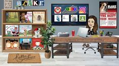 33 Awesome Ideas to Take Your Virtual Bitmoji Classrooms to the Next Level Classroom Walls, Classroom Setup, Google Classroom, Math Classroom, Class Pet, Virtual Class, Instructional Coaching, Home Learning, Blues Music