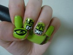 tobyMac Eye On It nails... why have I never thought of this? I am disappointed in my lack of nerdiness.