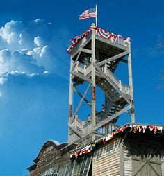 The lookout tower at the Shipwreck Museum. During the golden age of sail, over 100 ships per day passed by Key West. At least one ship per week would wreck somewhere along the Florida Reef.
