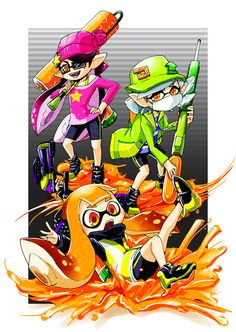 Agent 1, Agent 2, and Agent 3 from single player mode (artist unknown  )
