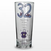 This 30th Birthday Pilsner Glass features a Purple Ronnie Design making it a great birthday gift. Buy it online from http://www.theengravedgiftscompany.co.uk/