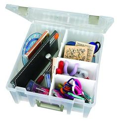 Art Craft Box Case Drawer Organizer Storage Container Removable Divider Plastic