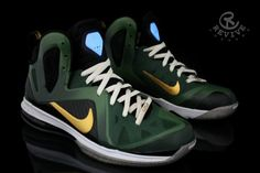 """Nike LeBron 9 Elite """"Master Chief"""" by Revive Customs"""