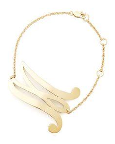 Jennifer Zeuner Gold Initial Earring, Left