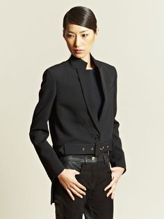 AOL – Lifestyle News, Beauty, Style, Health, Travel & Food Givenchy Women's Tuxedo Tail Jacket Tuxedo With Tails, All Black Fashion, Givenchy Women, Smart Outfit, Androgynous Fashion, Comme Des Garcons, Suit And Tie, Suits For Women, Work Wear