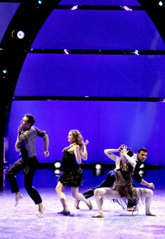 """Top 20 contestants Matthew Kazmierczak, Janaya French, Amelia Lowe and Dareian Kujawa perform a Contemporary routine to """"Modern Drift"""" choreographed by Stacey Tookey on SO YOU THINK YOU CAN DANCE."""